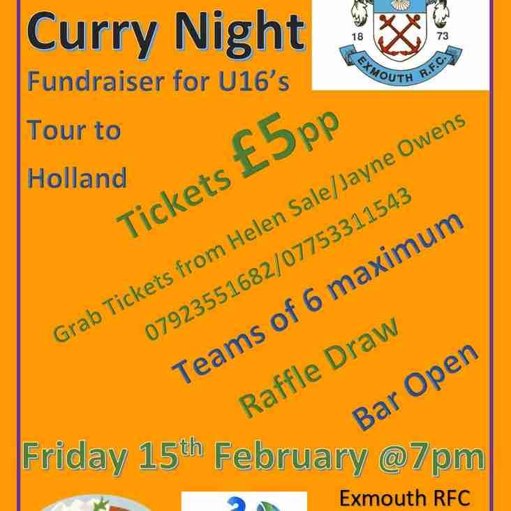 Quiz & Curry Night - 15 February