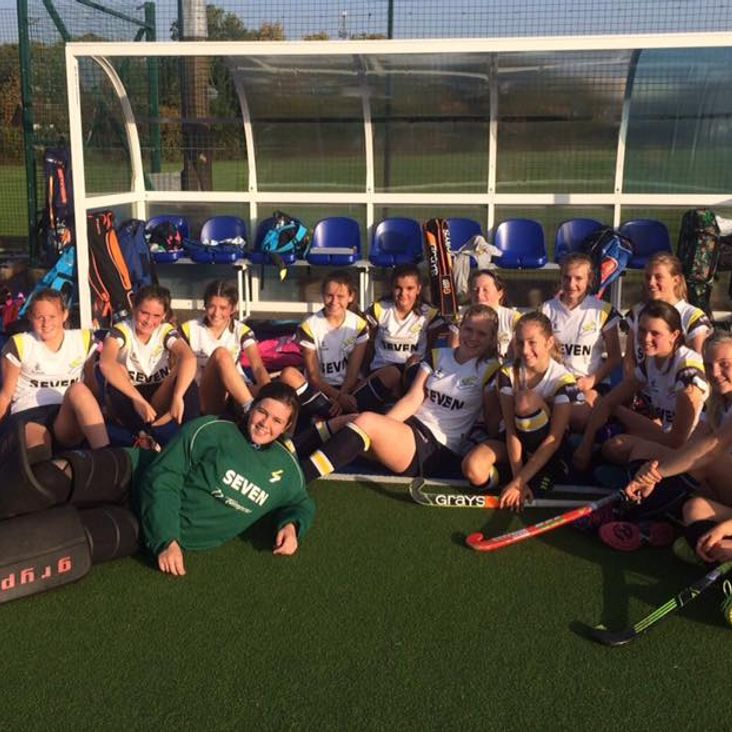 U14 Girls victorious <
