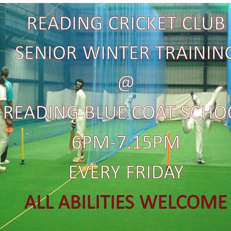 Senior Winter Indoor Nets - Tonight @ 5.30pm