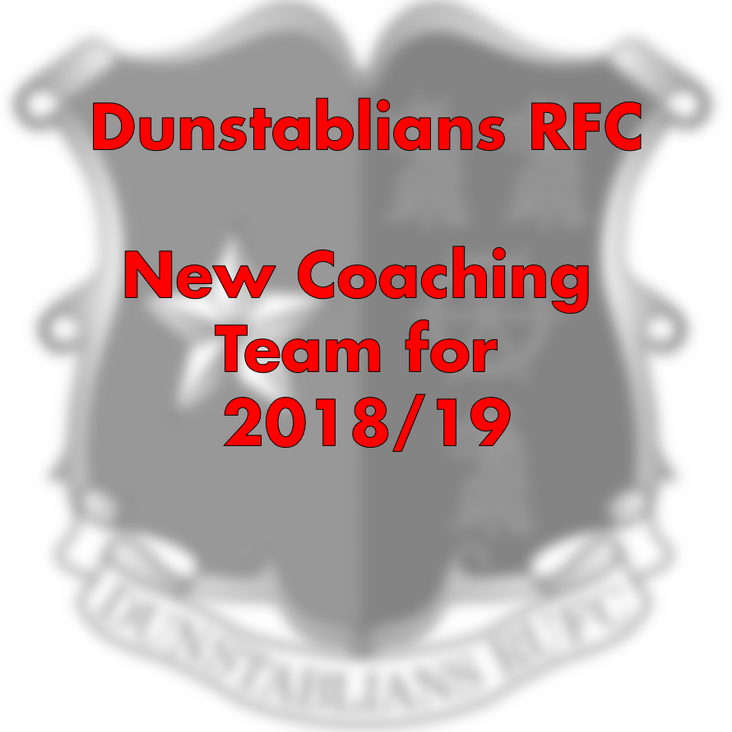 New Senior Coaching Team for 2018/19<