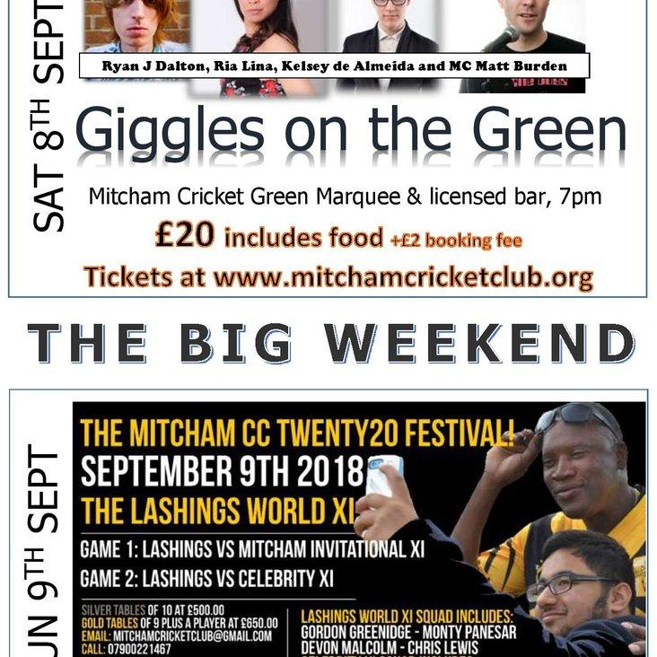 Mitcham CC Big Weekend 7-9 Sept 2018<