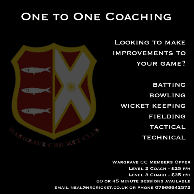 One to One Coaching at Wargrave CC