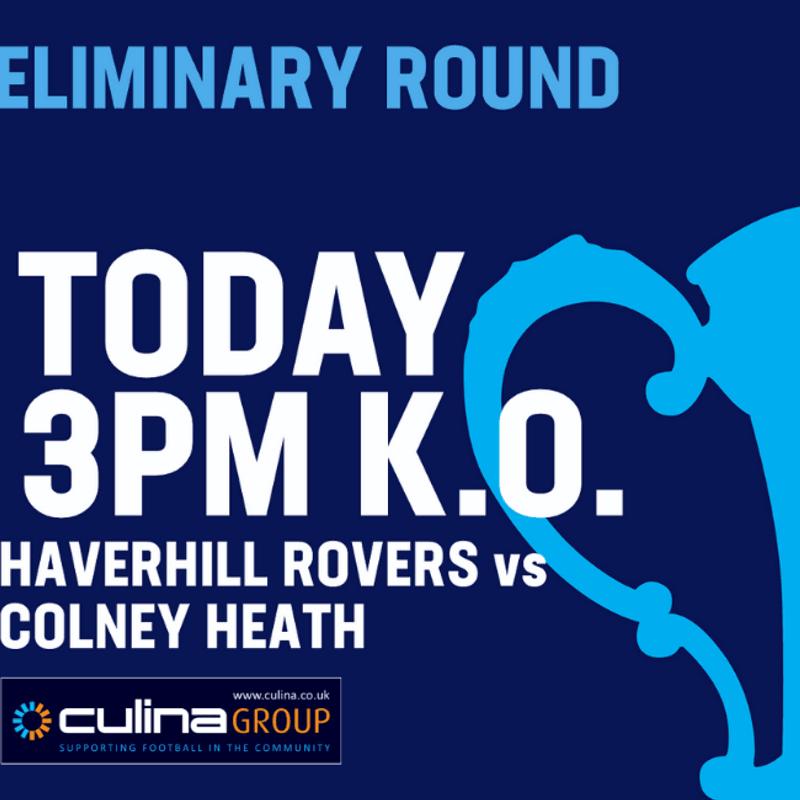 EMIRATES F A CUP EXTRA PRELIMINARY ROUND - HRFC vs COLNEY HEATH F C - SAT. 10 AUG 19 - 3pm K.O