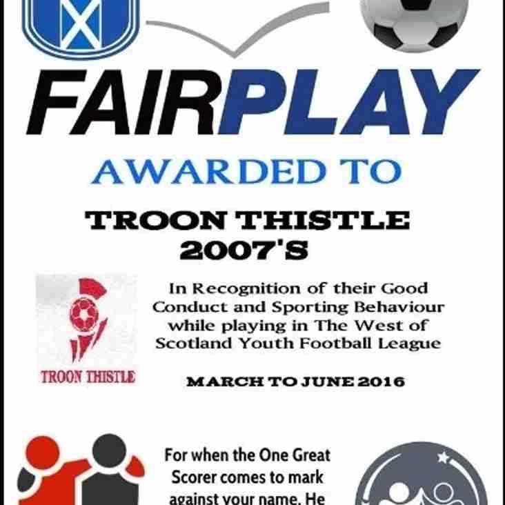 Fair Play Winners 2016