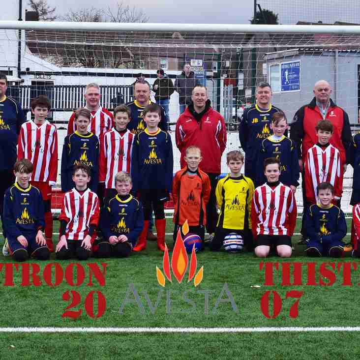 Troon Thistle 2007 New Home and Away strip
