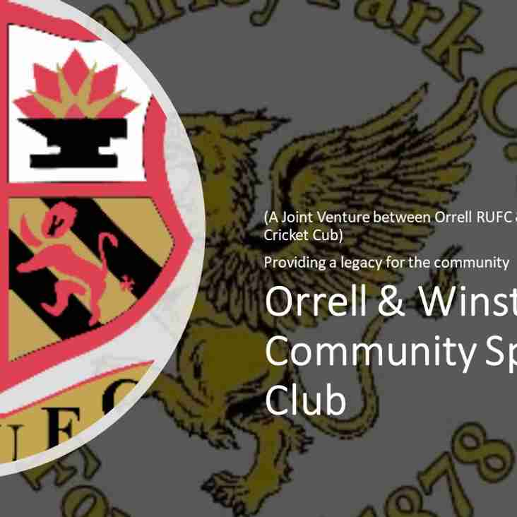 Minutes of the Orrell & Winstanley Community Sports Club AGM now available to download