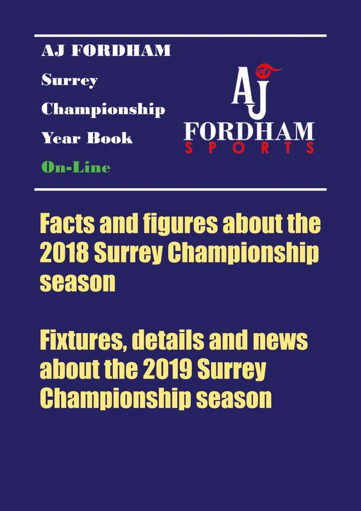 Surrey Championship Year Book 2019 - The AJ Fordham Surrey