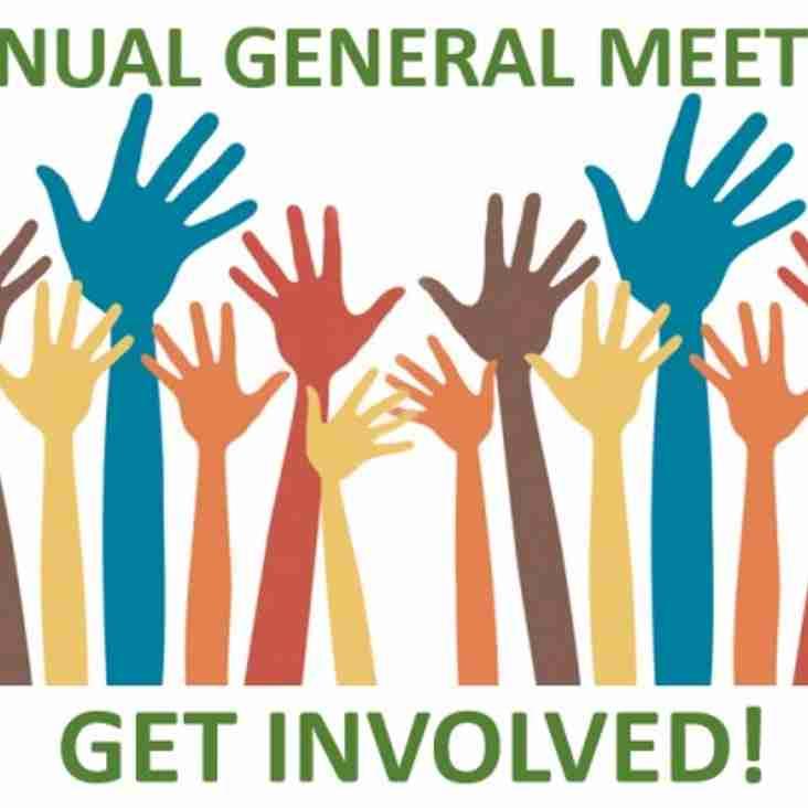 Annual General Meeting (AGM) 24.6.19 @ 7pm