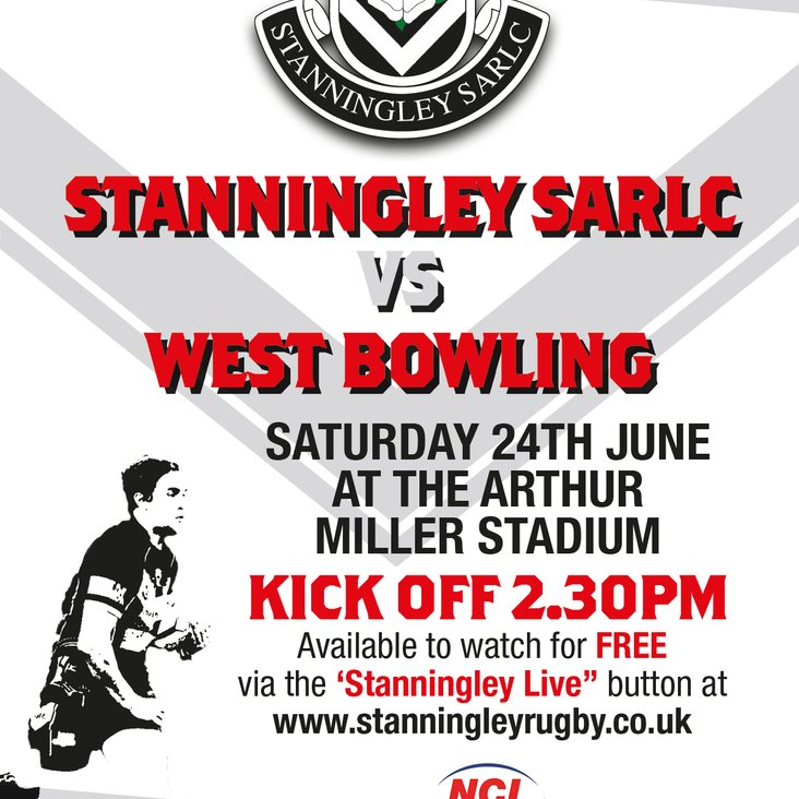 STANNINGLEY Vs WEST BOWLING LIVE!!!<