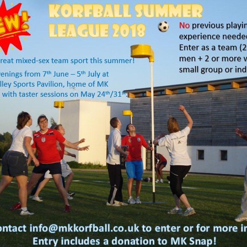 New Summer League starting June 7th supporting MK Snap - teams/players wanted including beginners!