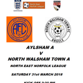 A Team local derby at Aylsham