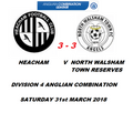 Heacham 3 - 3 North Walsham Town Reserves