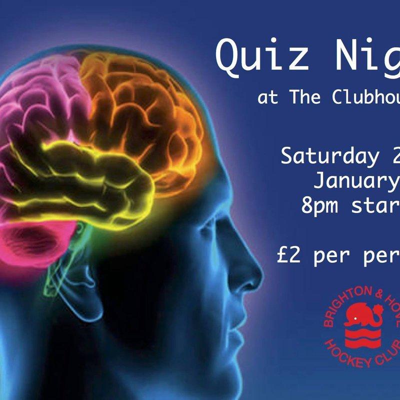 Club Quiz Night!! - Saturday 28th January