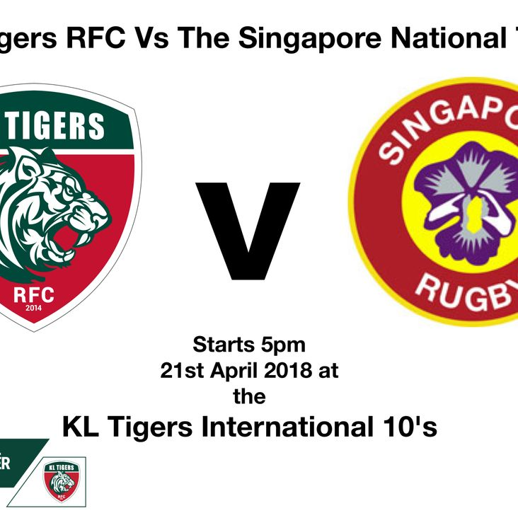 KL Tigers RFC V The Singapore National Team<