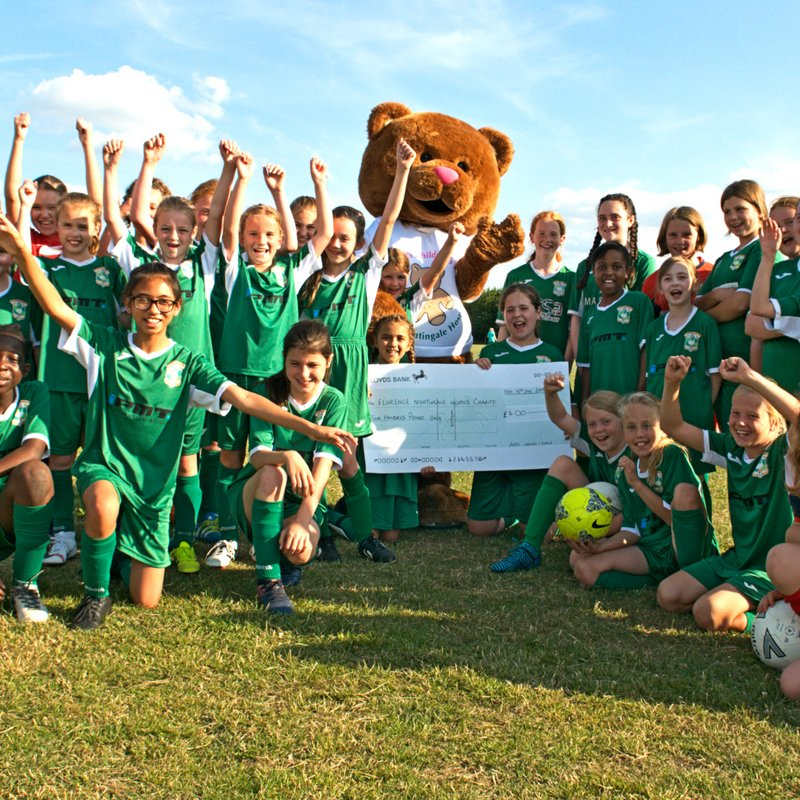Aylesbury United Ladies & Girls score for Hospice