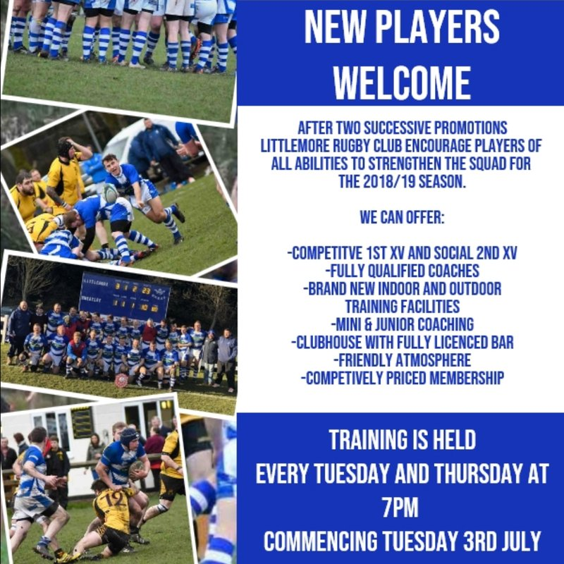 NEW PLAYERS WELCOME !