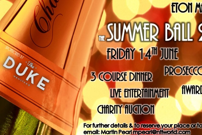 The Eton Manor RFC Summer Ball 2019 is nearly SOLD OUT!!!!!!.