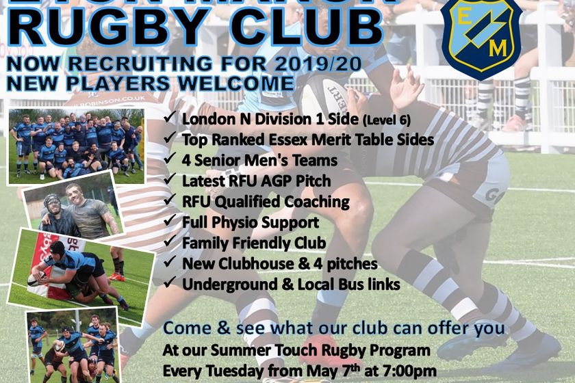 Eton Manor RFC Now Recruiting