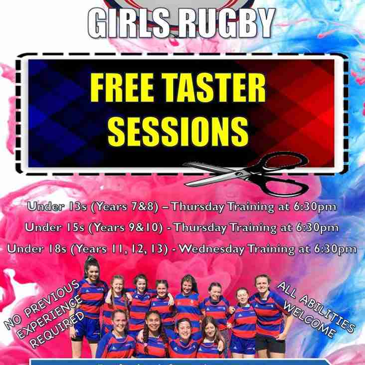 FREE Girls Taster Sessions