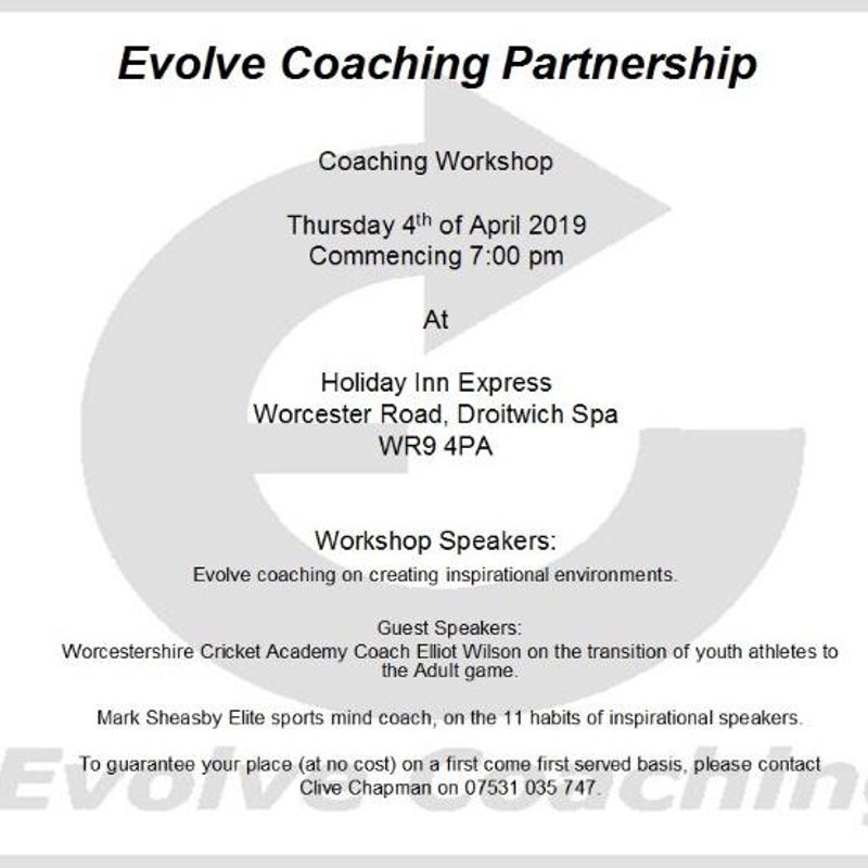 Free Coach Education Evening