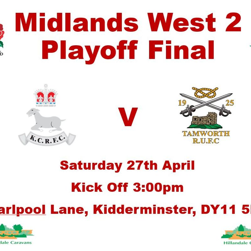 Midlands West 2 - Playoff Final - Saturday 27th April