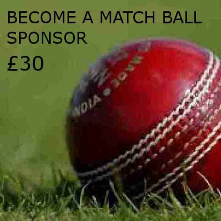 Please support the club & Be a Match Ball Sponsor