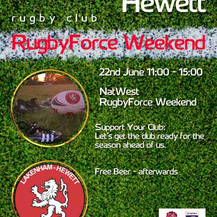 RugbyForce Weekend - 22nd June - 11:00-15:00