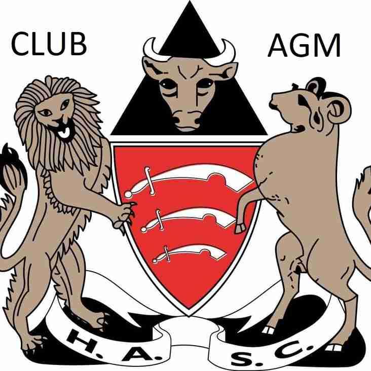 CLUB AGM Agenda
