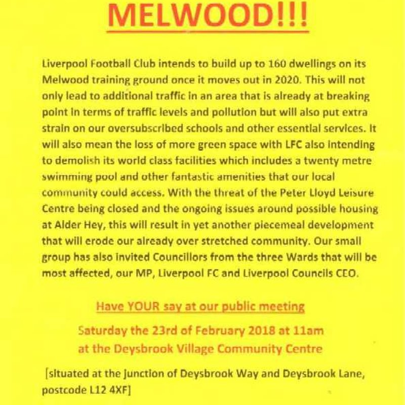 Melwood proposed development