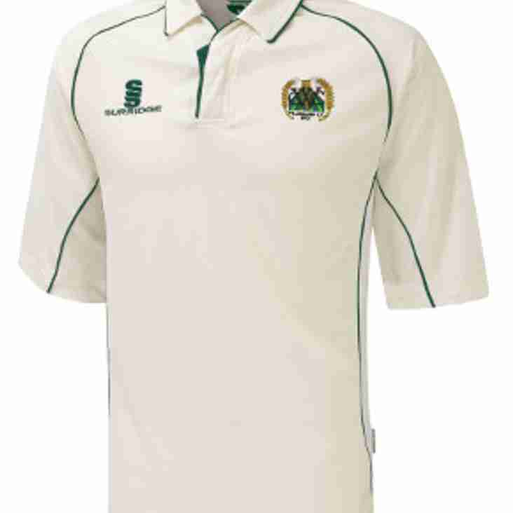 Order your Willoughby CC kit now for the new season