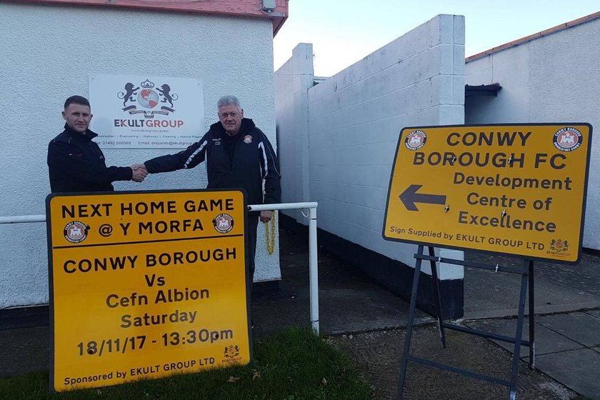 Conwy Borough FC secure on-going support from EKULT GROUP LTD