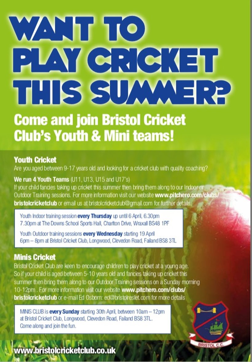 Want to Play Cricket this Summer ? - News - Bristol Cricket Club