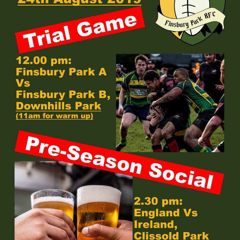 Pre-season Social and Trial Game