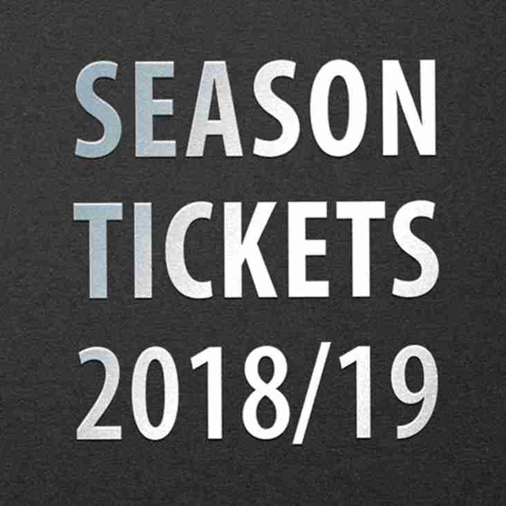 2018/19 season ticket prices announced