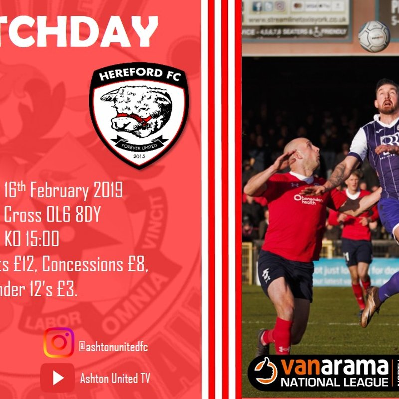 Hereford FC Match Preview