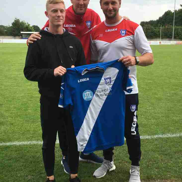 New signing; Morgan Brown signs for Town
