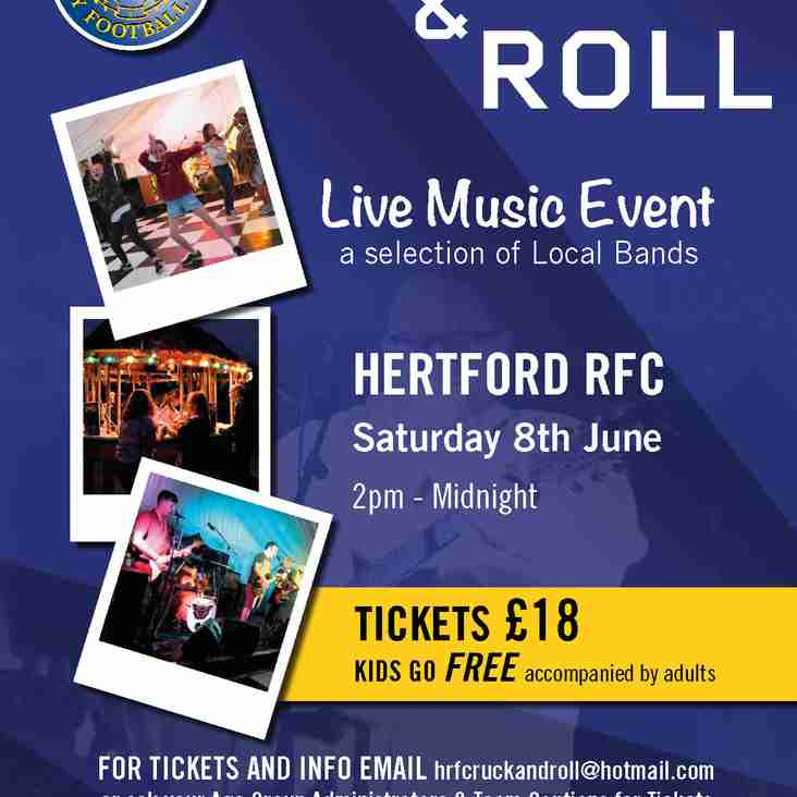 ONLY TWO WEEKS TO GO!  Hertford Ruck & Roll  - Hertford's very own live music festival.