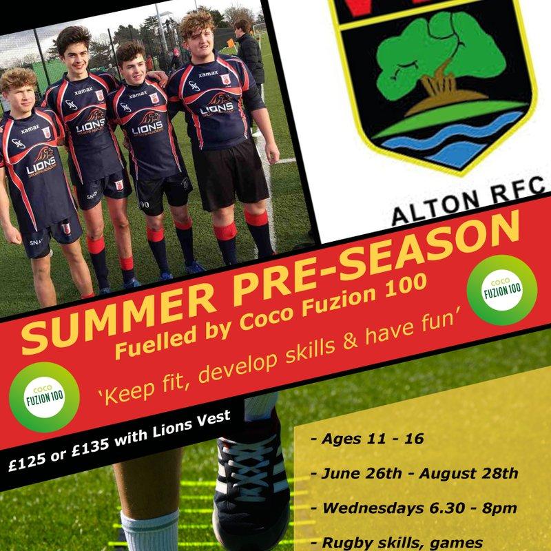 Age Grade Summer Pre-Season Programme at Alton RFC