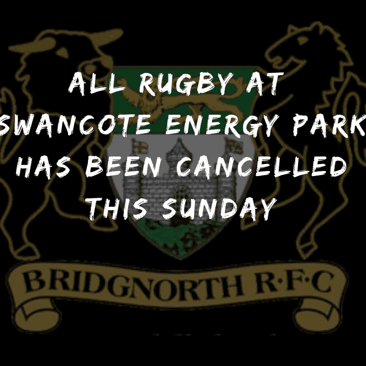 Mini and Junior rugby off