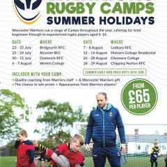Warriors Training Camp is returning to Bridgnorth RFC - BOOKING NOW OPEN!