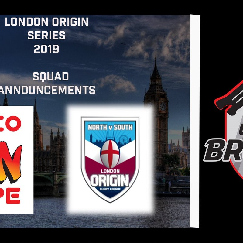 12 EELS make the London Broncos & Namco UK Ltd name Origin Squads
