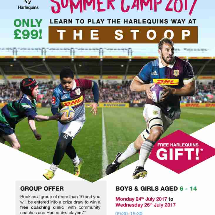 Harlequins Summer rugby camps at the Stoop