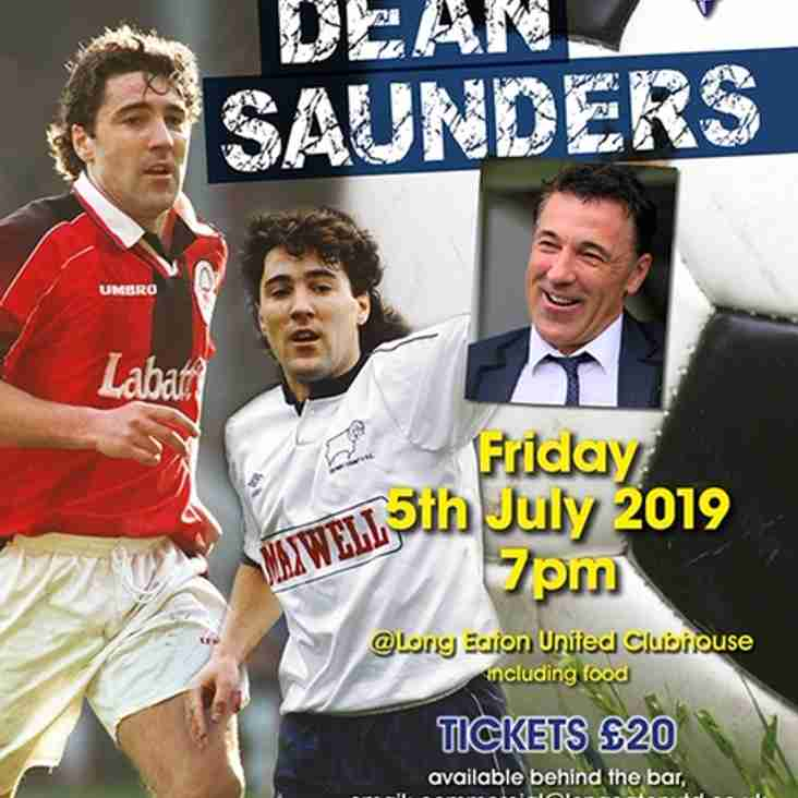 An Evening with Dean Saunders - Friday 5th July 2019 - NOW SOLD OUT