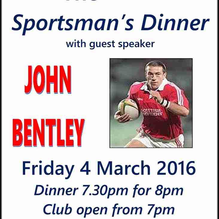 Rix & Kay Sportsmans Dinner - 4th March 2016