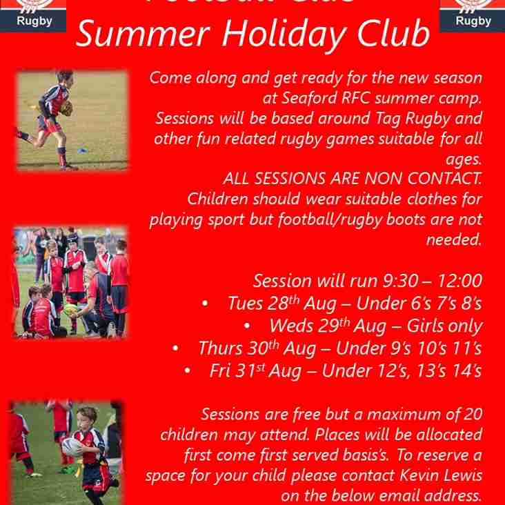 Seaford RFC's First Junior Summer Camp 2018
