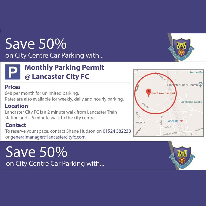 MONTHLY PARKING PERMITS AT LANCASTER CITY FC