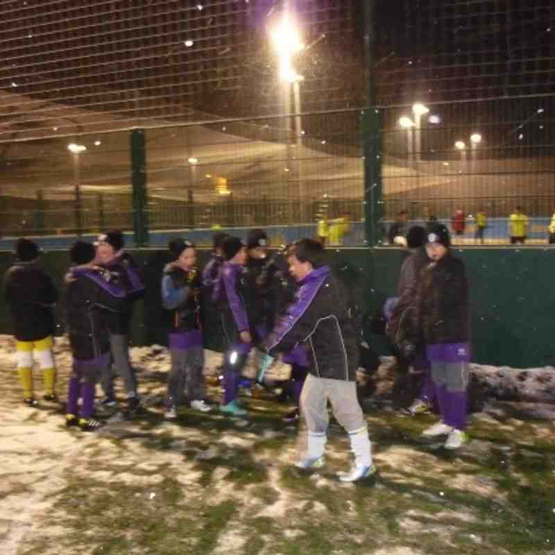 17/01/2013 training in the snow amaranth u10's