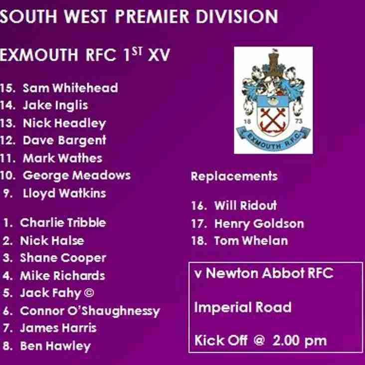 1st XV v Newton Abbot RFC