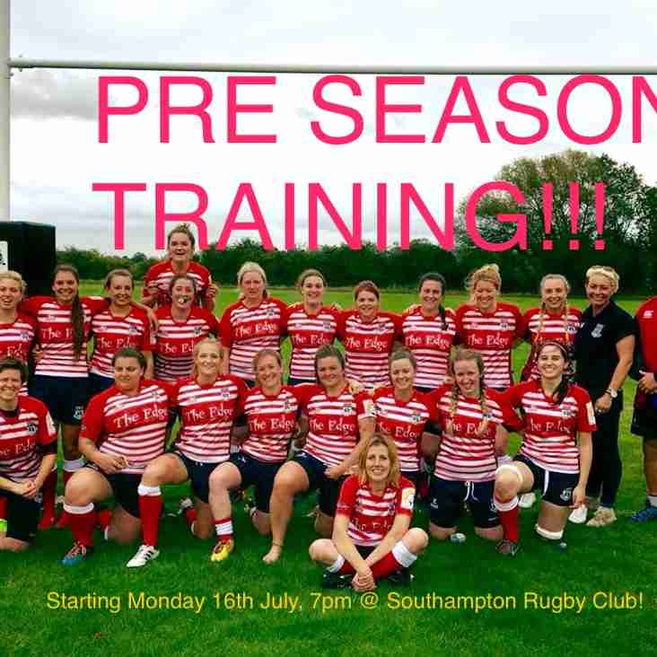 Ladies Pre season training begins Monday 16th July