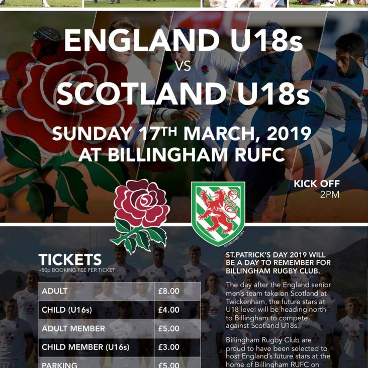 A Month Away from Seeing England Play Scotland at BILLINGHAM!!!  <